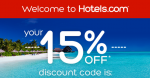 Her s your 15off coupon from Hotel
