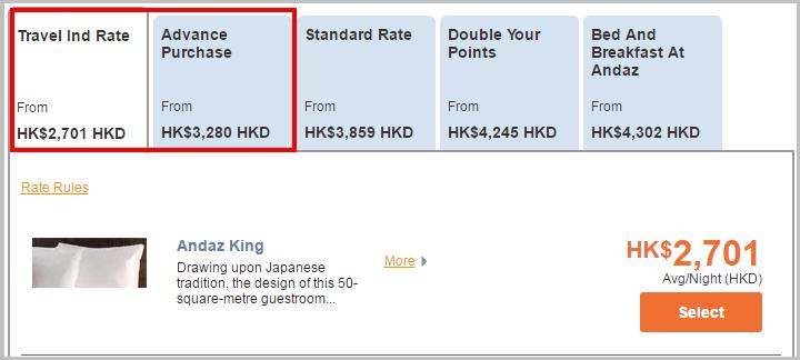 Hyatt Select Rooms Rate4