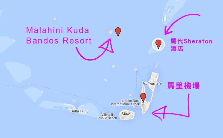 maldives-Malahini-Kuda-Bandos-Resort-map