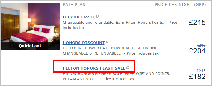hilton disocunted rate