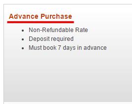 IHG advance purchase rate