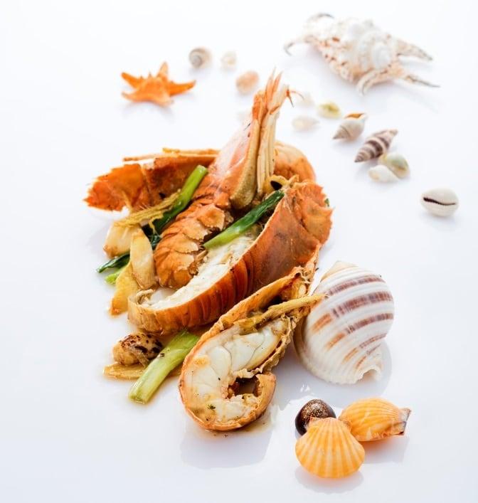 薑葱炒琵琶蝦