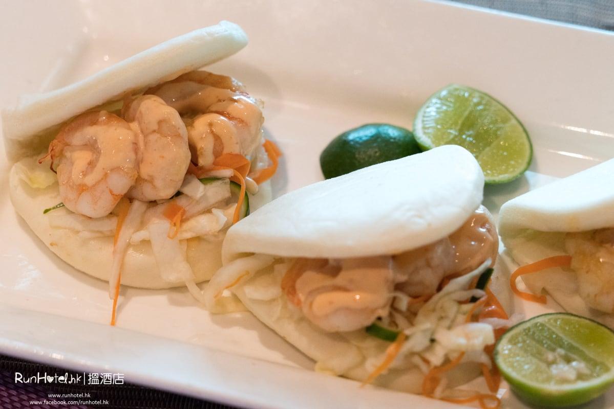 青檸大蝦沙律配墨西哥粟米脆片