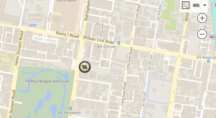 Bangkok - Map and Directions - Waldorf Astoria Bangkok