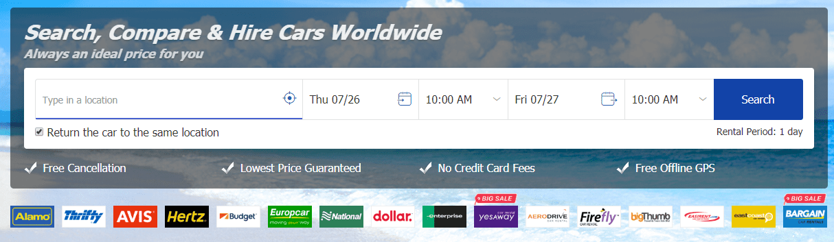 Easy Car Hire at affordable prices - Free cancellation _ Easyrentcars.com