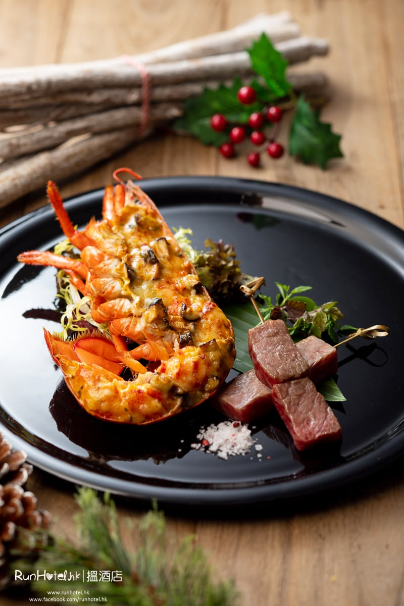 Bake Lobster Thermidor And Prime Angus Beef Brochette_OR_Miyazaki Wagyu Beef Brochette