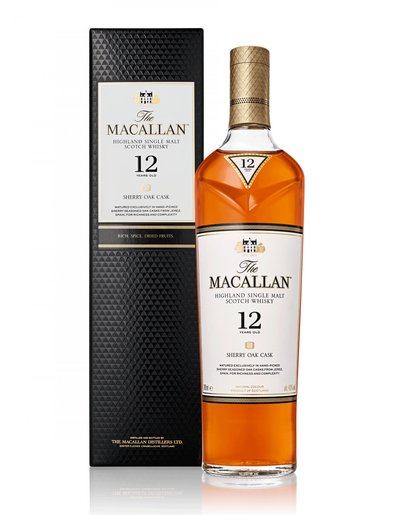 威士忌The Macallan 12 Years Malt一枝